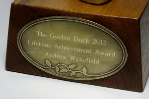 Inscription on the Golden Duck