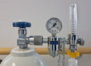 Image of oxygen gas regulator