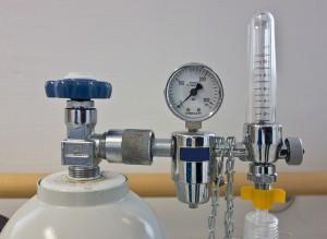 Image of oxygen gas regulator