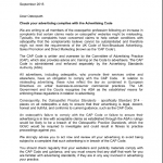GOsC, ASA, CAP osteopathy letter